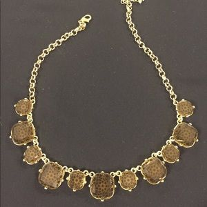 Statement Necklace brown and gold Francesca's